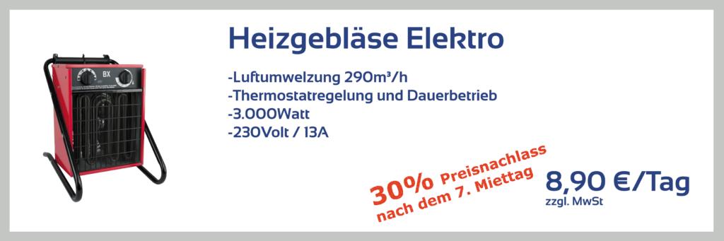 Heizgebläse Elektro