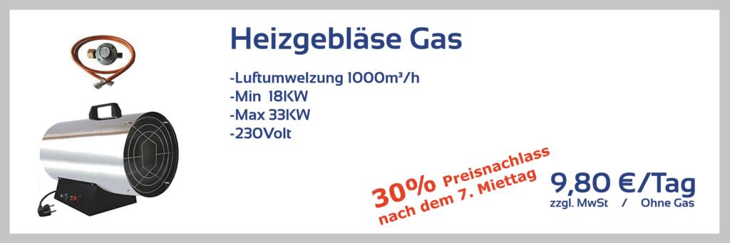 Heizgebläse Gas